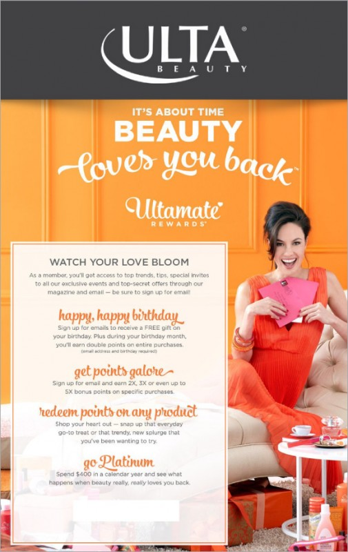 It's About Time Beauty Loves You Back ~ Ultamate Rewards